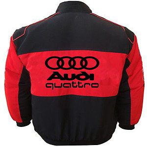 Audi Racing Jacket Black and Red