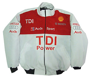 Audi TDI Power Racing Jacket White and Red