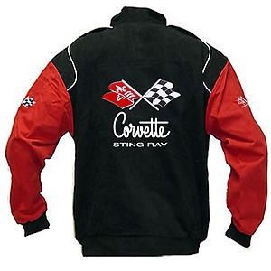 Corvette C2 Stingray Racing Jacket Black and Red