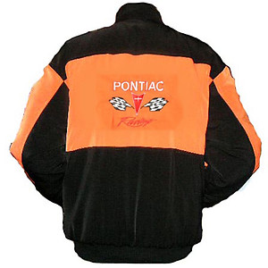 Pontiac Racing Jacket Orange and Black