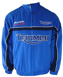 Triumph Daytona Motorcycle Jacket Blue