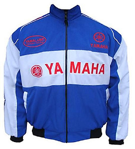Yamaha Motorcycle Jacket Blue and White