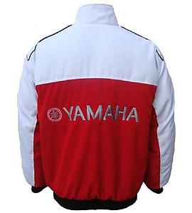 Yamaha Motorcycle Jacket White and Red
