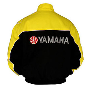 Yamaha R1 Motorcycle Jacket Black and Yellow