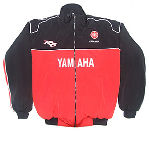 Yamaha R6 Virgin Motorcycle Jacket Red and Black