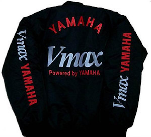 Yamaha VMAX Motorcycle Jacket Black with Red Embroidery