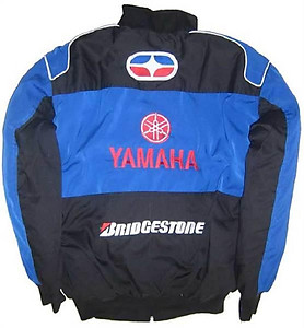 Yamaha YZ Motorcycle Jacket Black and Blue