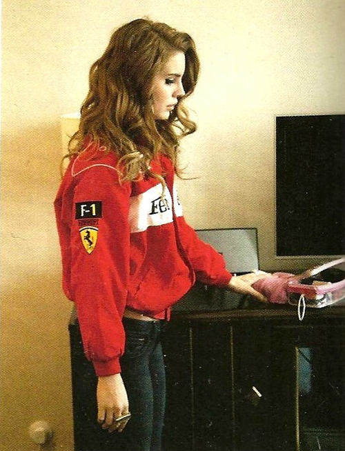 Ferrari Lana Del Rey Racing Jacket Red \u0026 White